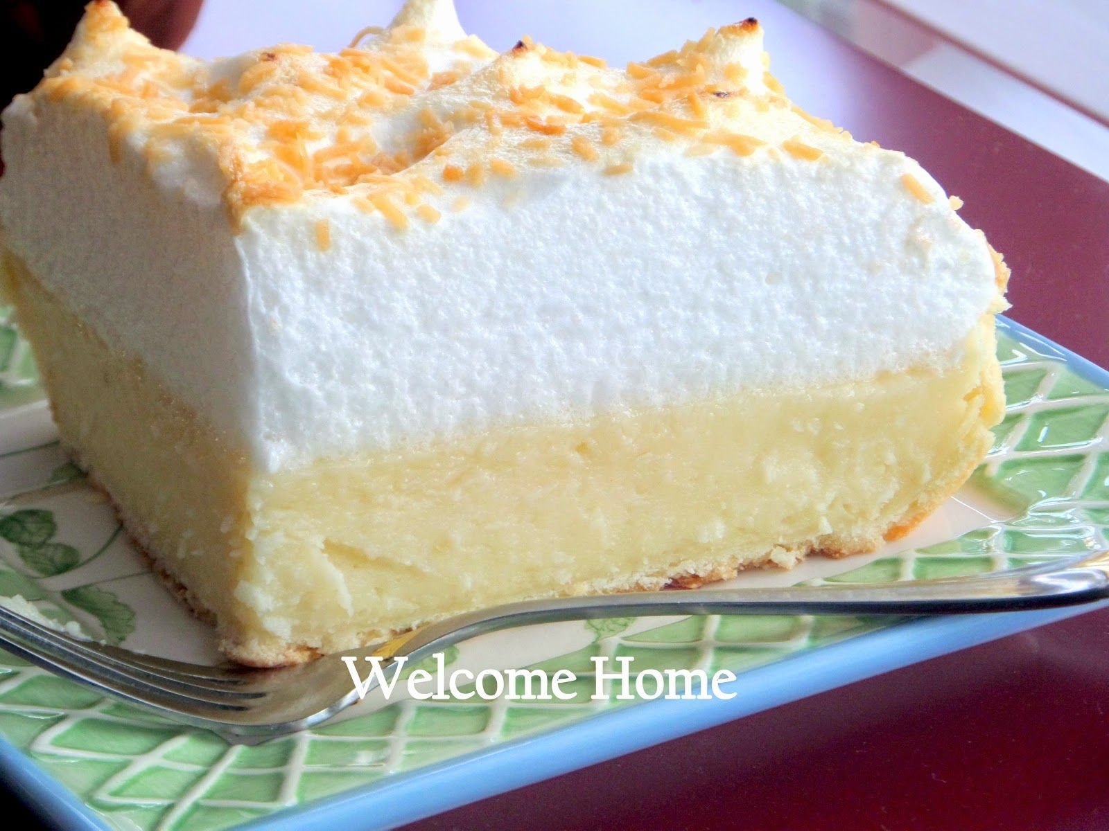 Welcome Home Blog: Mom's Coconut Custard  Meringue Pie