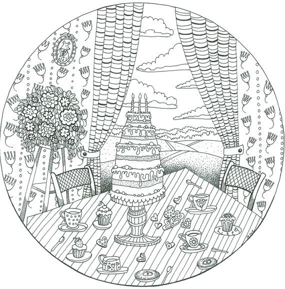 Coloring Page for Adults; Lineart; Printable Coloring Page