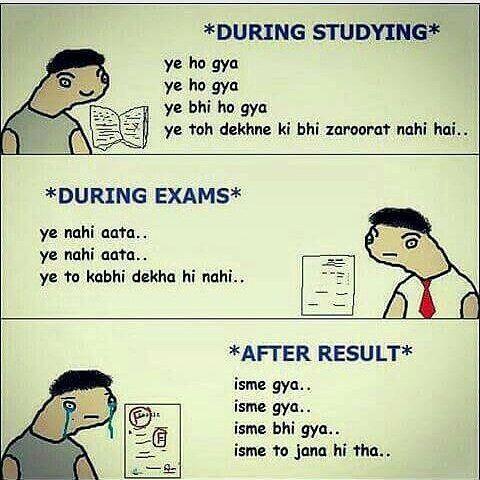 Mayank Pandey On Instagram Saala Padh Padh Ke Dimag Khrb Ho Gaya H Exams Stress Tensions Exam Exam Quotes Funny Exams Funny Funny Study Quotes