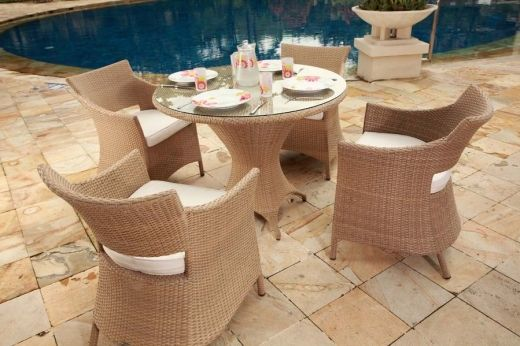 Roma Bistro 4-Seater Dining Set patio Pinterest Conservatory