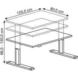 Photo of Hammerbacher height-adjustable desk white rectangular Hammerbacher