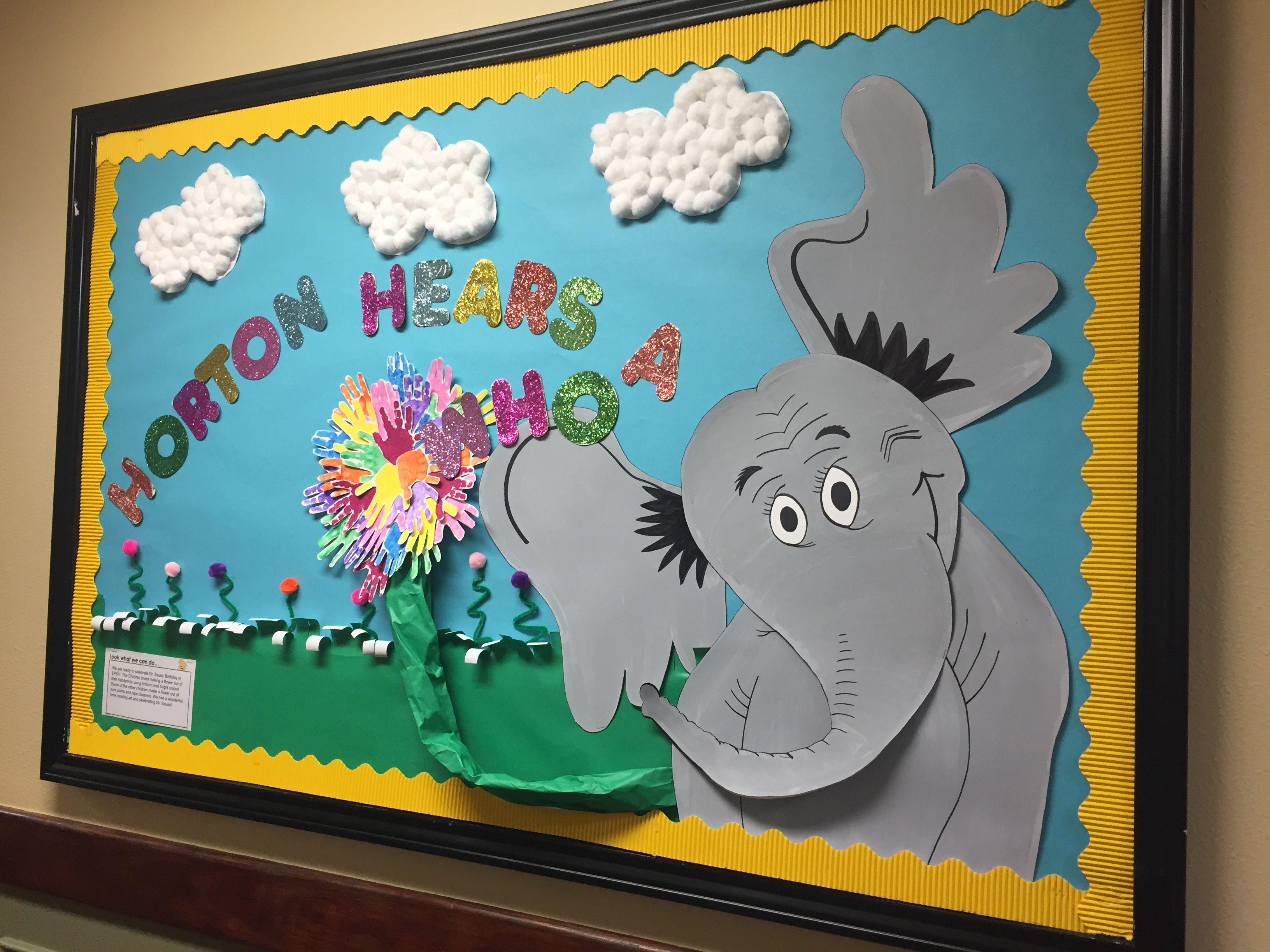 Dr Seuss Horton Hears A Who Bulletin Board Pta Themes Classroom I Love School