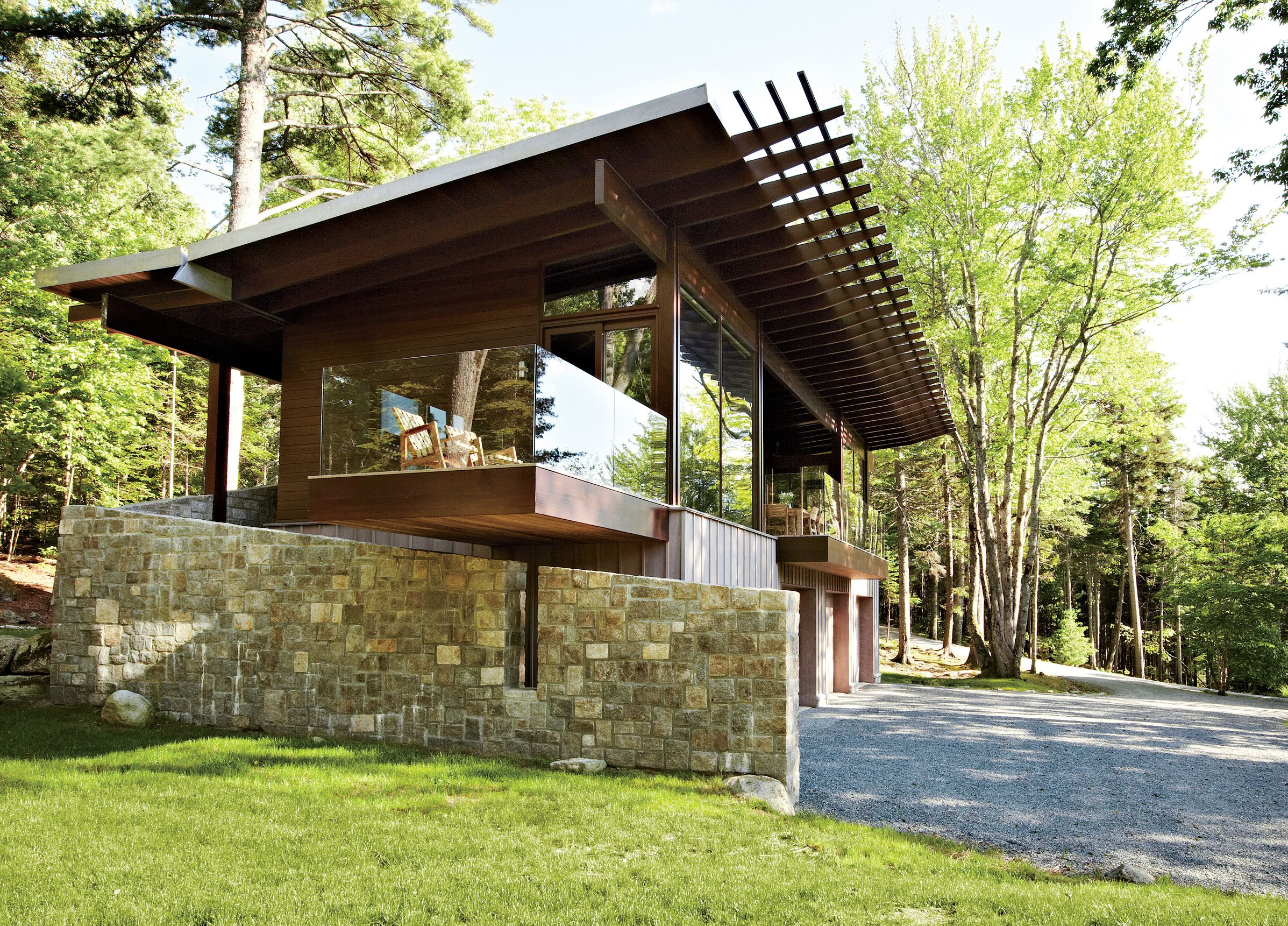Photo 1 Of 5 In Frank Lloyd Wright Inspired Style And Camping Collide Architecture Exterior Architecture Frank Lloyd Wright