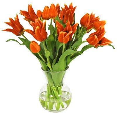 Silk Red Tulips Arrangements In Vase Tulips Arrangement Tall Glass Vases Red Tulips,Kitchen Garden Window Ideas