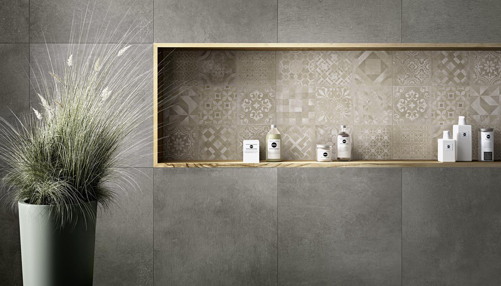 Collezione Studio Moderne Superfici In Cemento Ragno Grosse Badezimmer