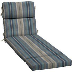 Best Allen Roth Stripe Blue Patio Chaise Lounge Cushion 640 x 480
