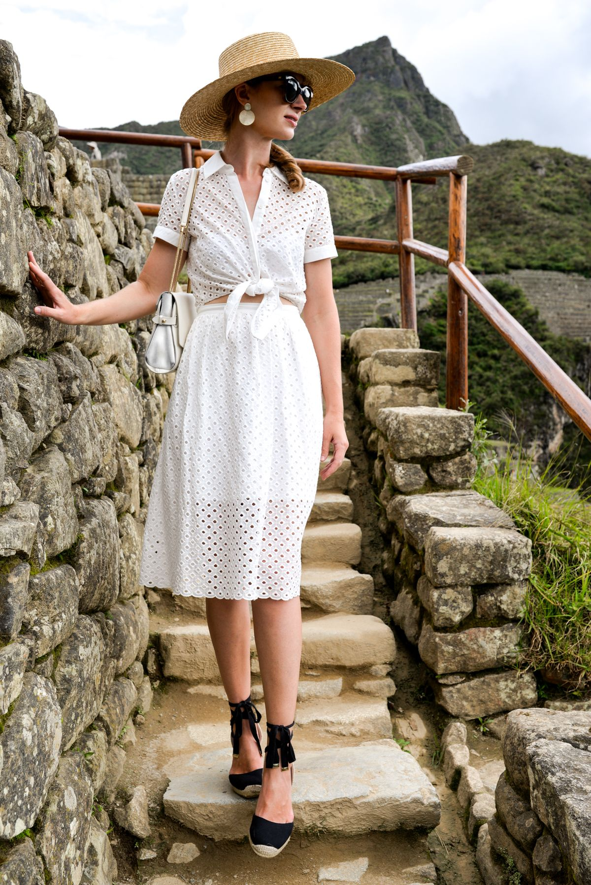 Espadrille wedges outfit