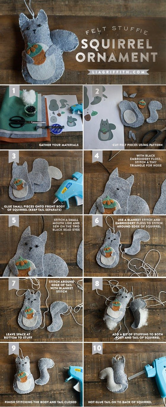 I love Kawaii: Felt Animal Gift Toppers or Ornaments