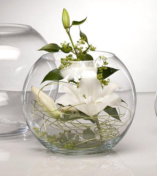 Vase boule centre de table deco pinterest table for Vase deco de table