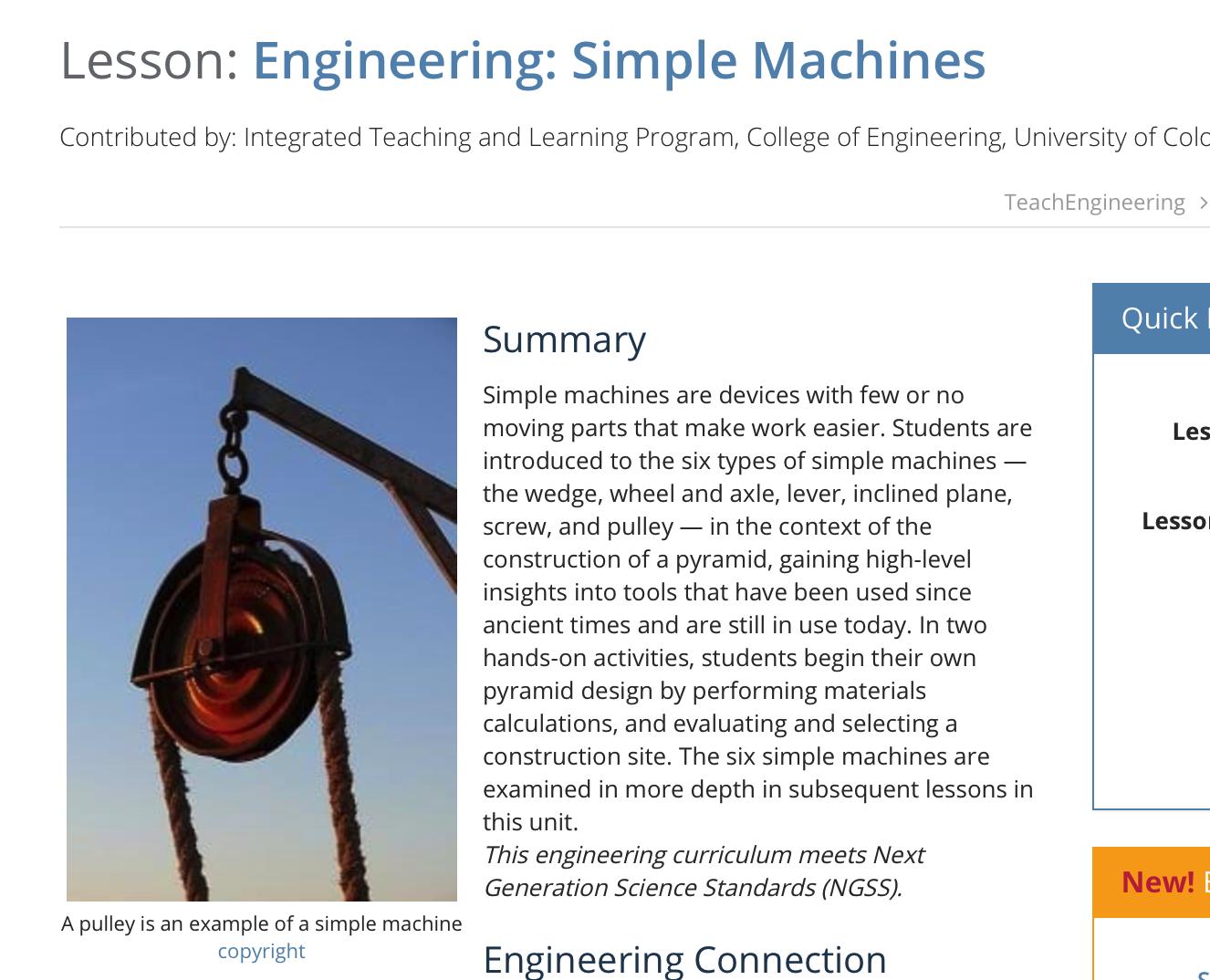 Engineering Simple Machines
