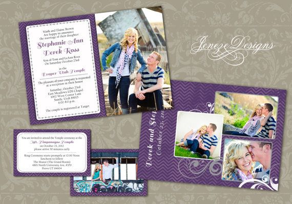 Wedding Invitation Template - Photographers and Photoshop users only - Item WA047 on Etsy, $10.00