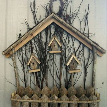 christmas birdhouse wall decor - Google Search | S&B birdhouse ...