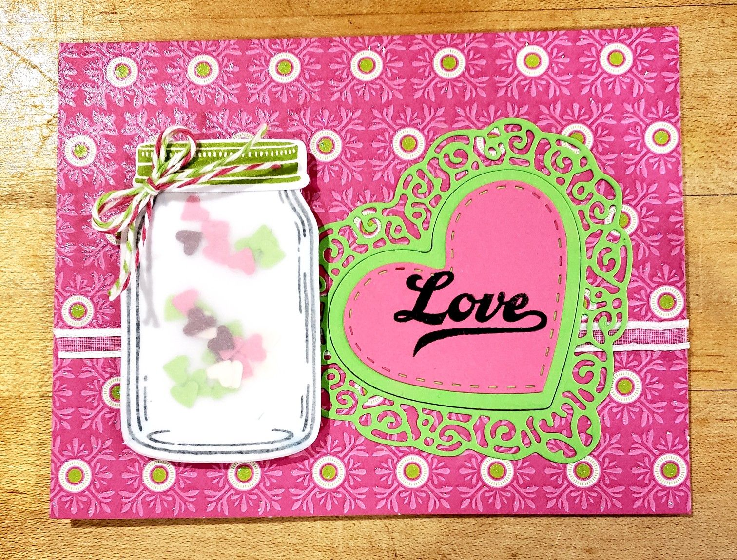 stampin up jar of love  card making stampin up scrapbook