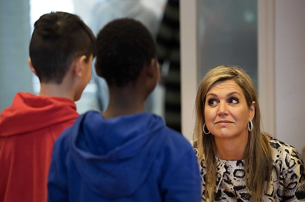 Queen Maxima Visit the IMC Weekendschool on Tour in Haarlem