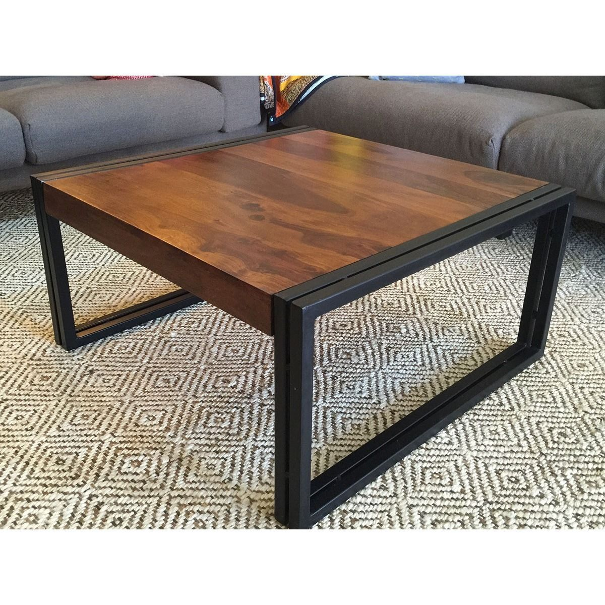 Timbergirl Reclaimed Solid Seesham Wood Coffee Table (India)   Overstock™  Shopping   Top Rated Coffee, Sofa U0026 End Tables