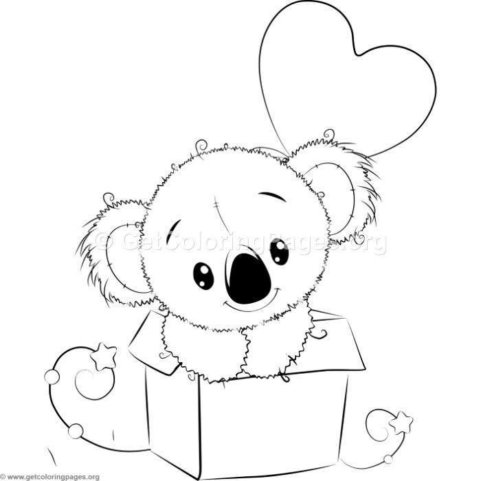 Cute Koala 7 Coloring Pages Cute Coloring Pages Cool Coloring Pages Disney Coloring Pages