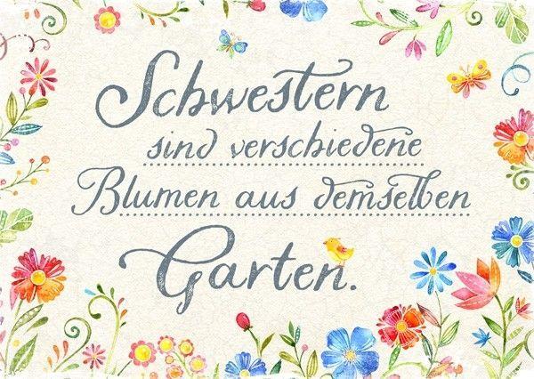 Postkarte - Schwestern #birthdayquotesforsister Postkarte - Schwestern #lustigegeschenke
