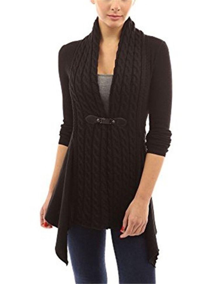 eb89895f338 Warm Winter Sweater Women Front Buckle Braid Slim Fit Long Sleeve Coat  Sweaters Female Cardigan Sweater Women Clothings LX246