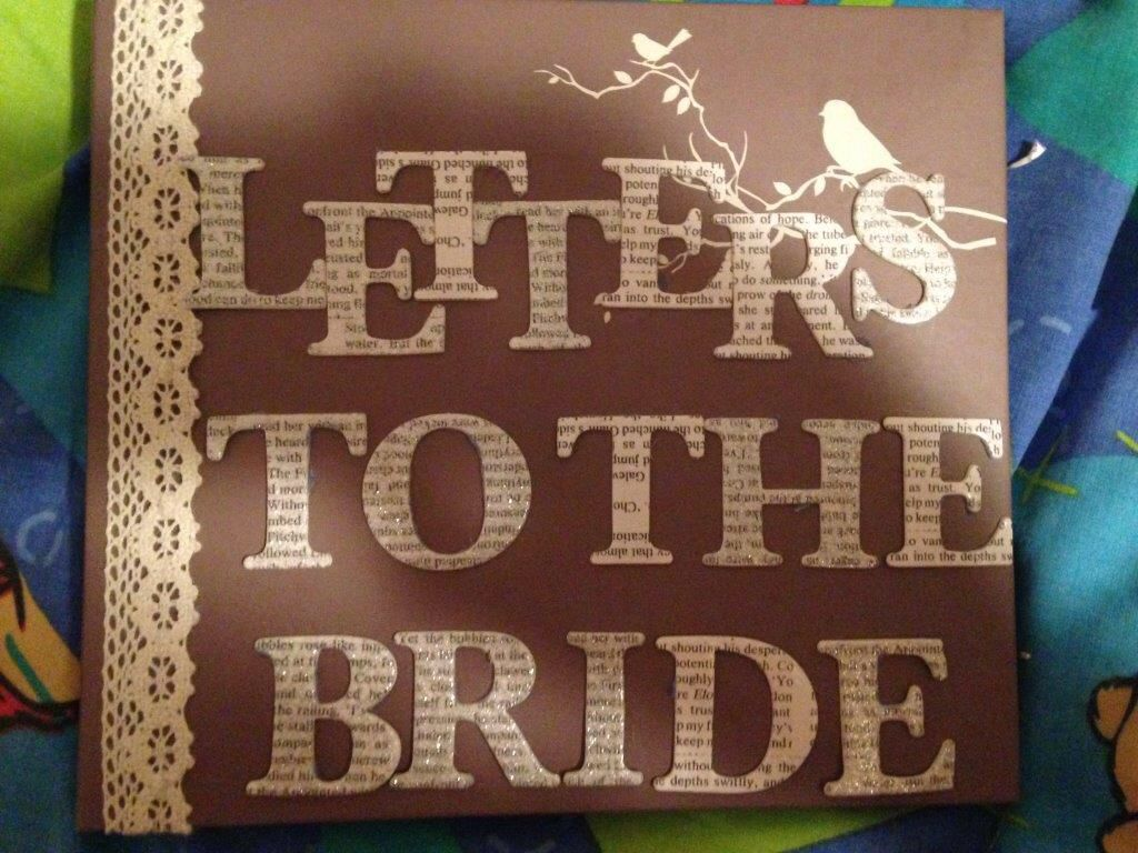 Scrapbook ideas letters