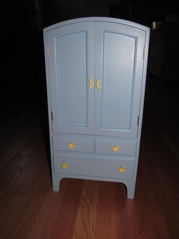 Superbe American Girl DOLL Armoire Blue Moon U0026 Stars Wardrobe Closet  Girl Of Today CHEST