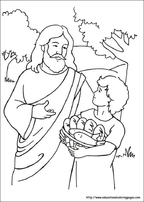 5 Loaves And 2 Fish Coloring Pages Sunday School Coloring Pages
