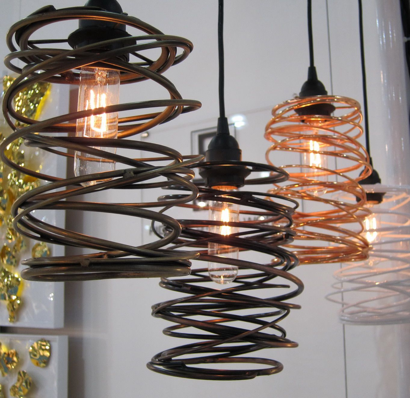 Interesting Light Fixtures: Coil Nests--- I Need Your Springs Sherrie So I Can Make
