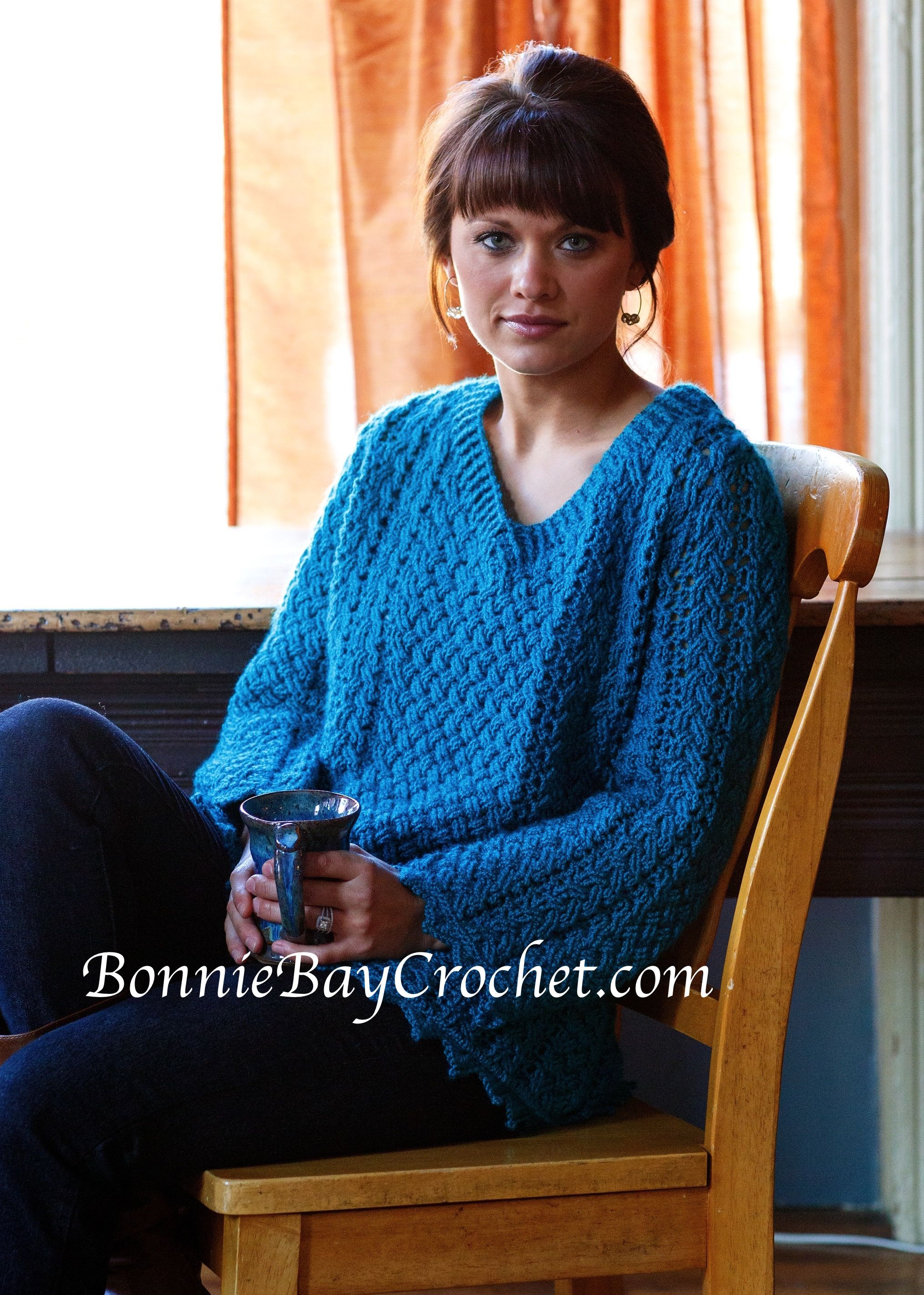 Kells Cabled Sweater By Bonnie Barker Http Www Interweavestore Com Contemporary Celtic Crochet Cable Sweater Pattern Chunky Pullover Sweater Crochet Clothes