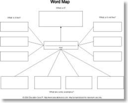 Graphic Organizer Word Map With Images Word Map Graphic