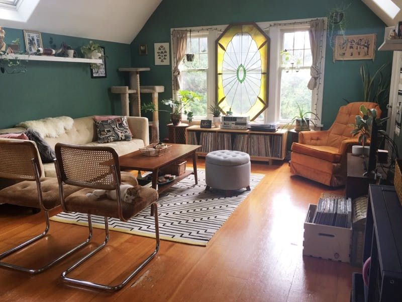 A Charming Attic Apartment Full Of Thrift Store Treasures Attic