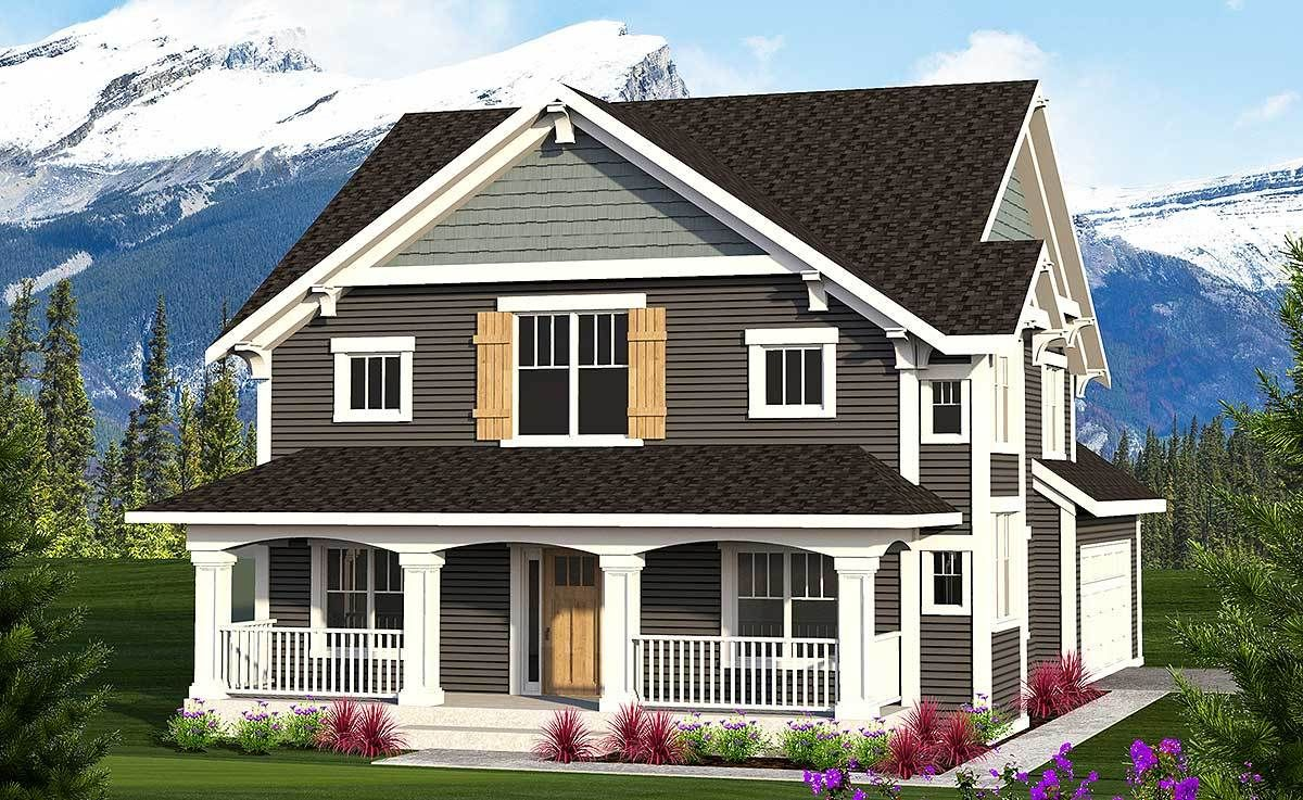Plan 89964AH 2Story Farmhouse with Front Porch in 2020