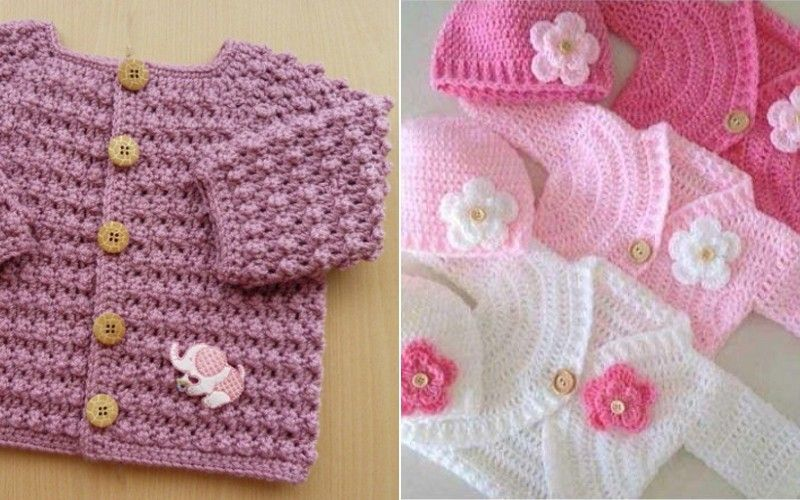 Elegant Baby Cardigans Free Crochet Patterns in 2020