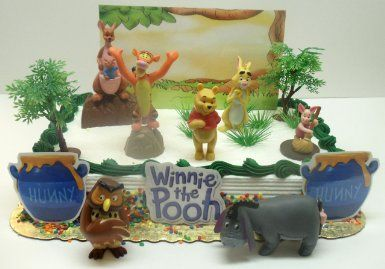 Amazon Winnie The Pooh Birthday Cake Topper Set Featuring Tigger