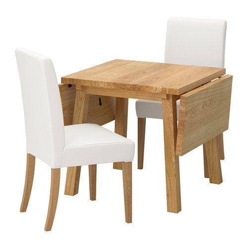 All Wood Dining Room Chairs Ikea Table And 2 Chairs Oak Gräsbo White 4204292320346