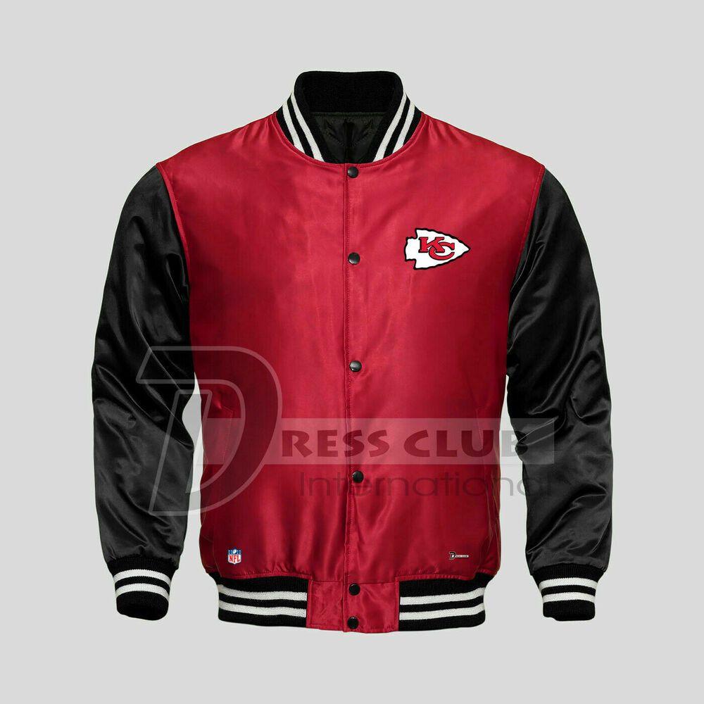 American Nfl Kansas City Chiefs Football Jacket Varsity Sports Wear Satin Jacket Ebay Satin Jackets Football Jackets Jackets [ 1000 x 1000 Pixel ]