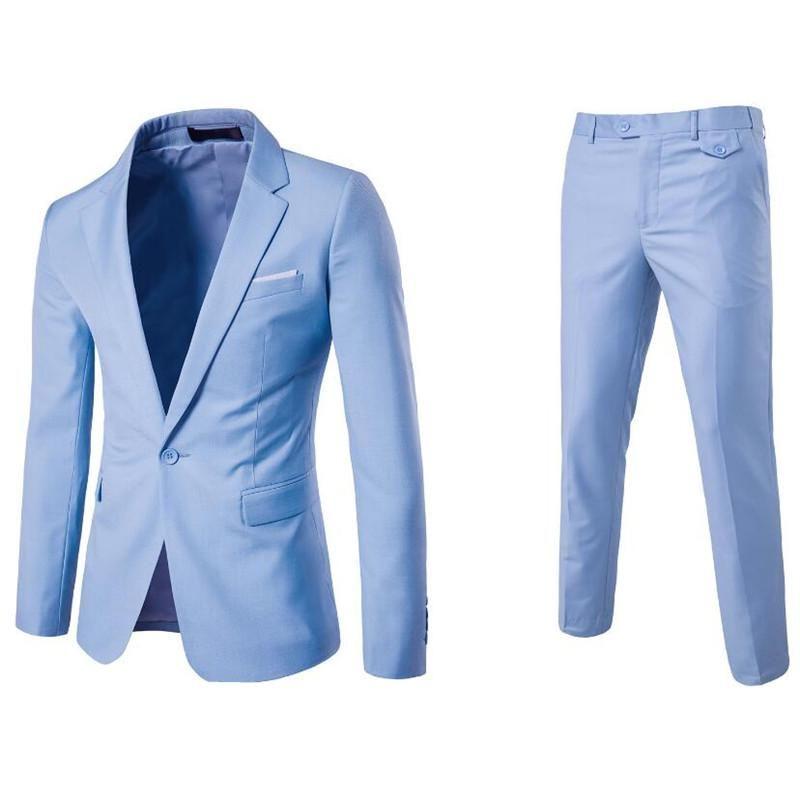 80bfbbb3b0 (Jacket+Pant+Vest) Luxury Men Wedding Suit Male Blazers Slim Fit Suits For  Men Costume Business Formal Party Blue Classic Black 1