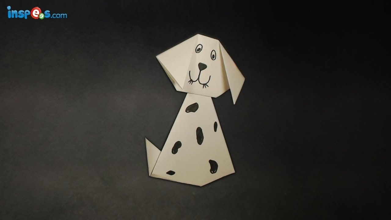 How to make an origami dog origami craft videos and dog how to make an origami dog jeuxipadfo Image collections