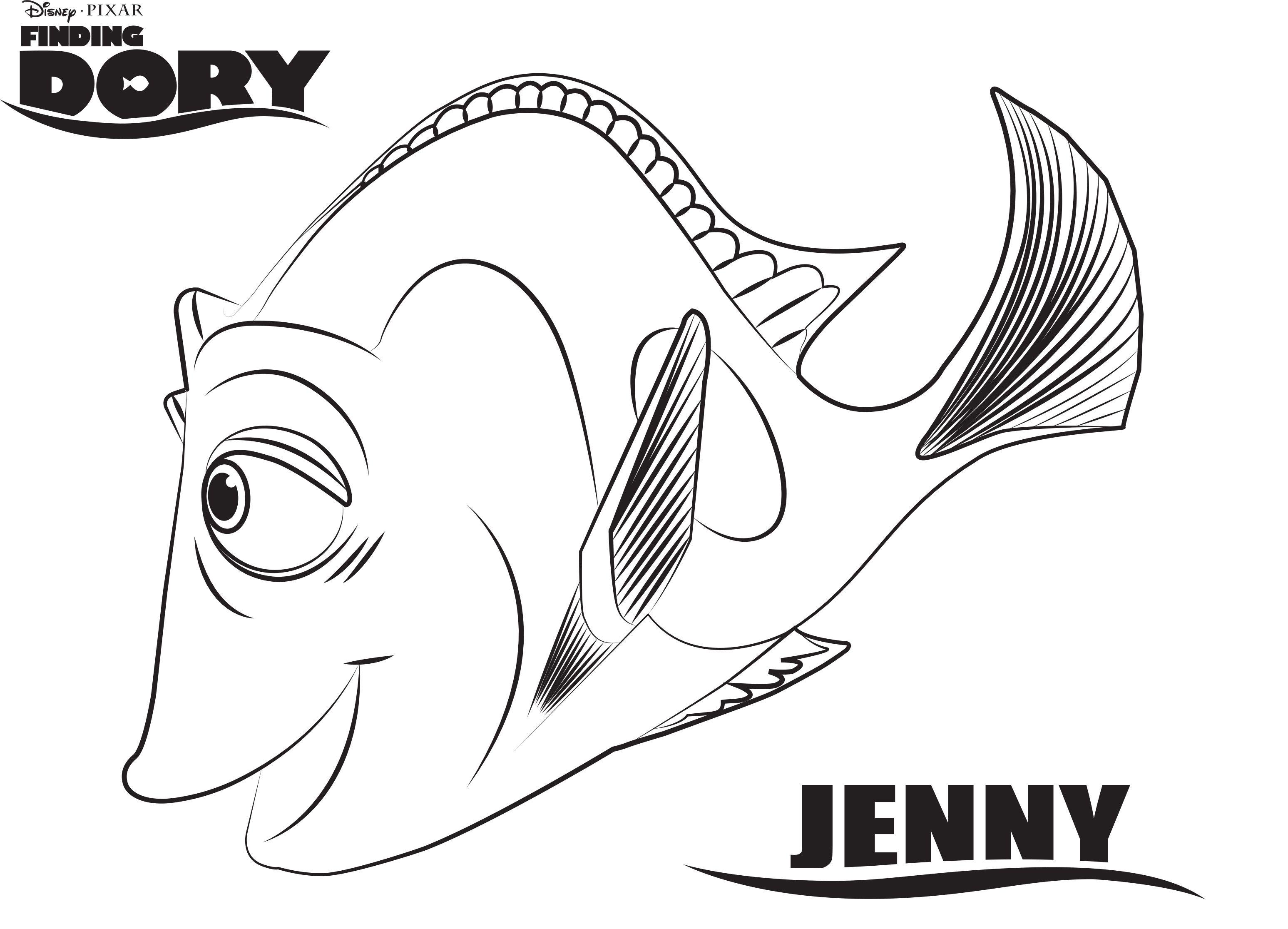 Finding Dory Kleurplaten Jenny Paginas Para Colorir Da Disney Paginas Para Colorir Desenhos