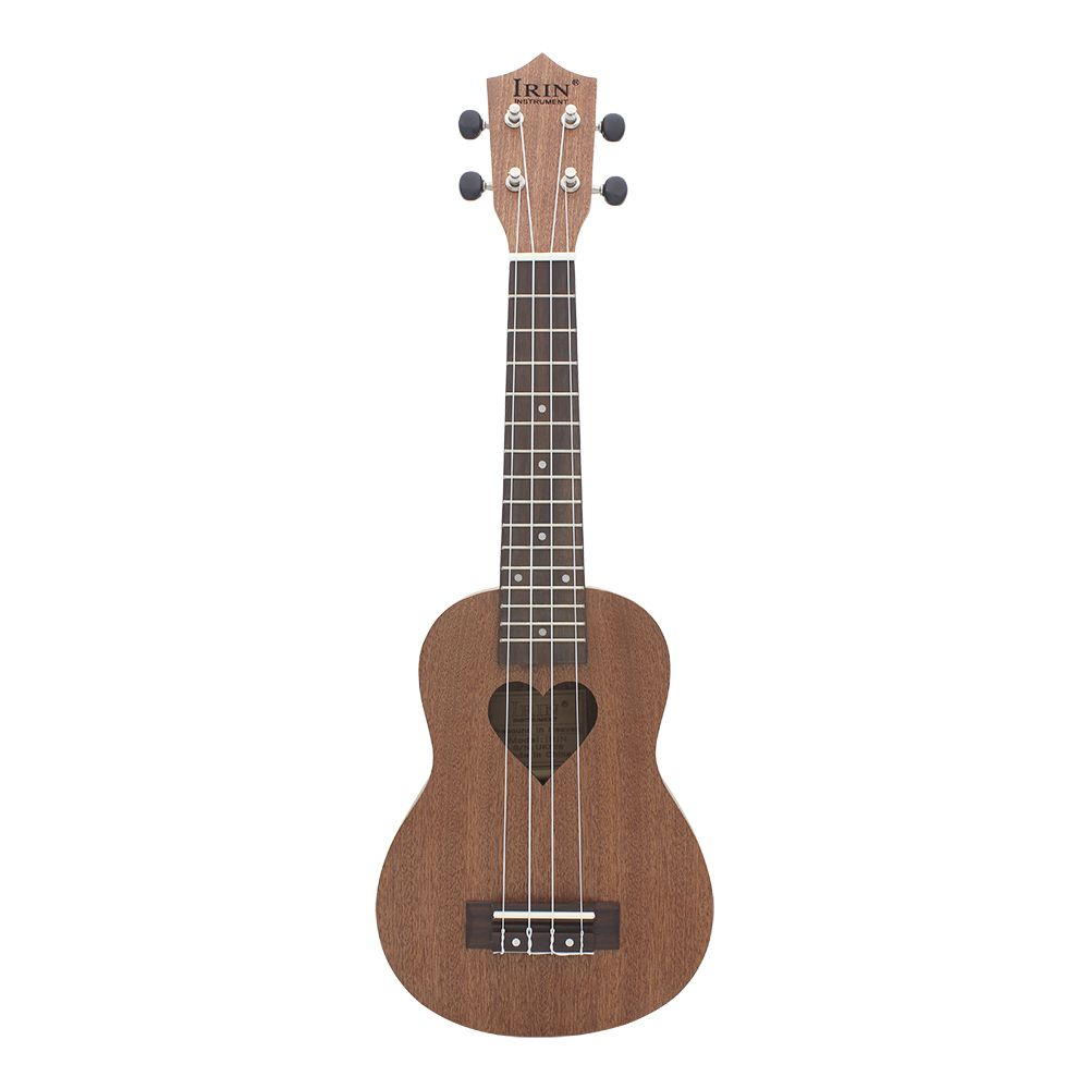 IRIN Professional 21 Inch 4 Strings Guitar Ukelele with Sapele Heart-shaped Sound Hole Suitable for Both Child & Adult