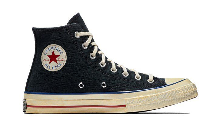 Converse Chuck Taylor All Star  70 Vintage  36 Canvas black blue red pas  cher prix Baskets Femme Converse 90.00€ TTC. 73b816305c