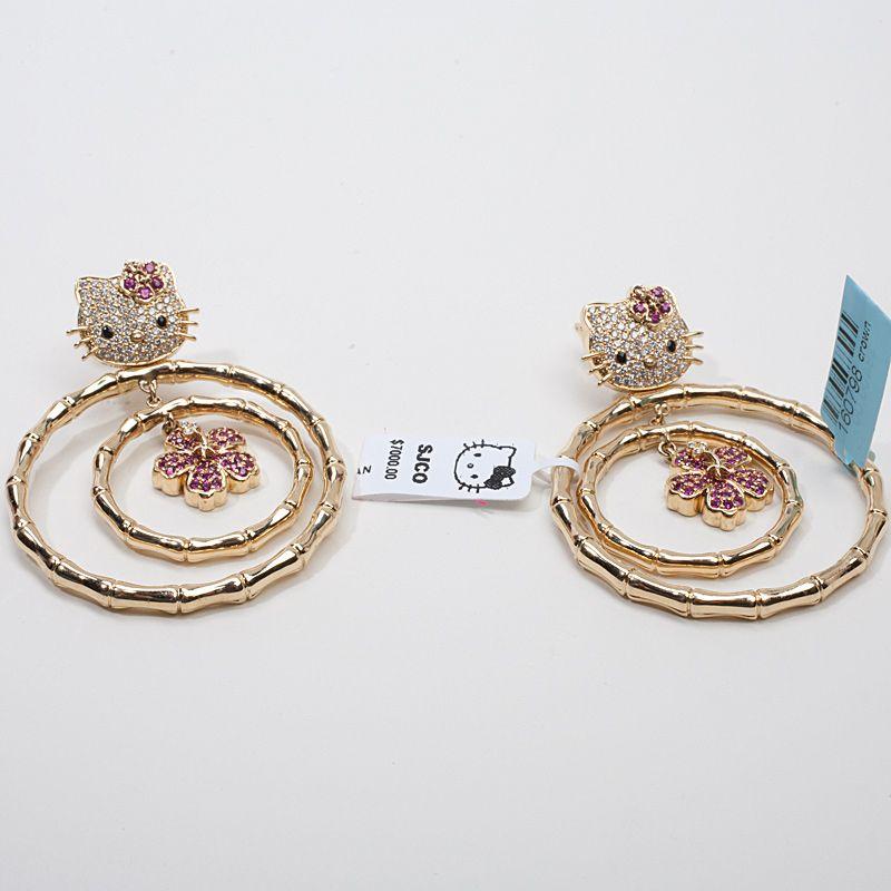 gold hello kitty jewelry Hello Kitty Simmons 18k Gold Diamond
