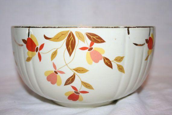 Hallu0027s Superior Quality Kitchenware Bowl Jewel Autumn Leaf Pattern