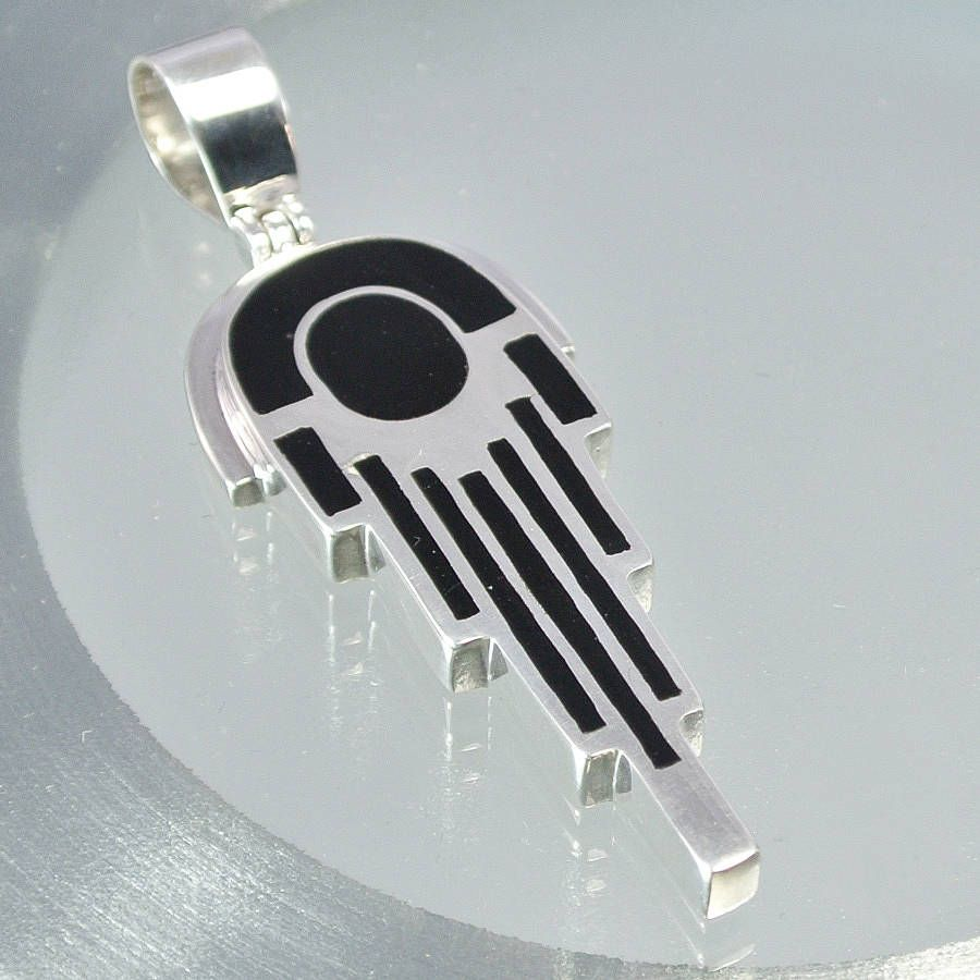 Art deco pendant art deco pharaoh sterling silver pendant by art deco pendant art deco pharaoh sterling silver pendant by gilbert and skeggs mozeypictures Choice Image