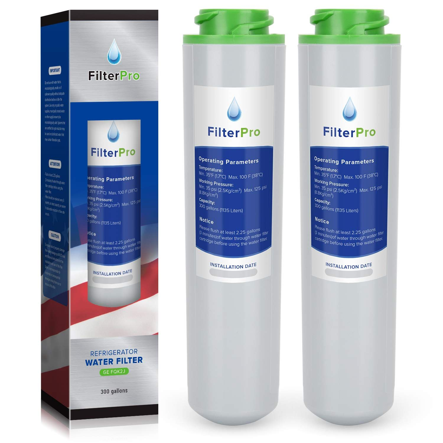 Filterpro Dual Flow Drinking Water Replacement Filters Compatible