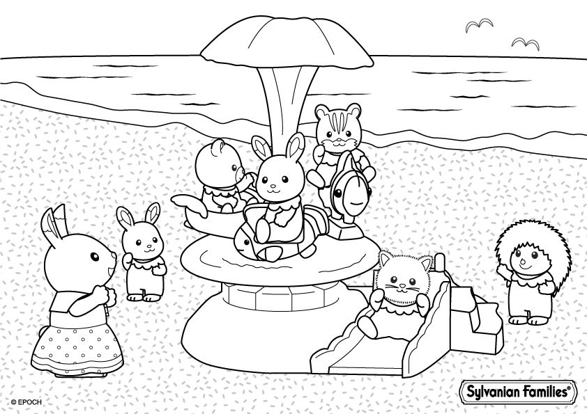 Billedresultat for Sylvanian Families Coloring Pages | For my Gigi ...