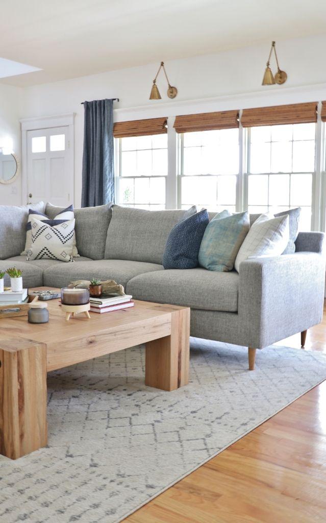 My New Custom Sectional Finally Revealed Interior Define Sofa Scandinavian Design Living Room Home Decor