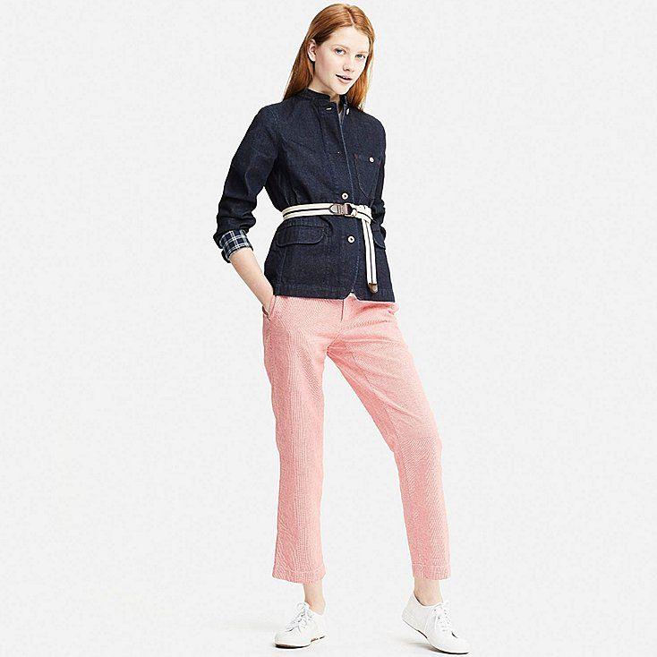 Women Ines Denim Jacket Ines De La Fressange X Uniqlo Ss18 Now