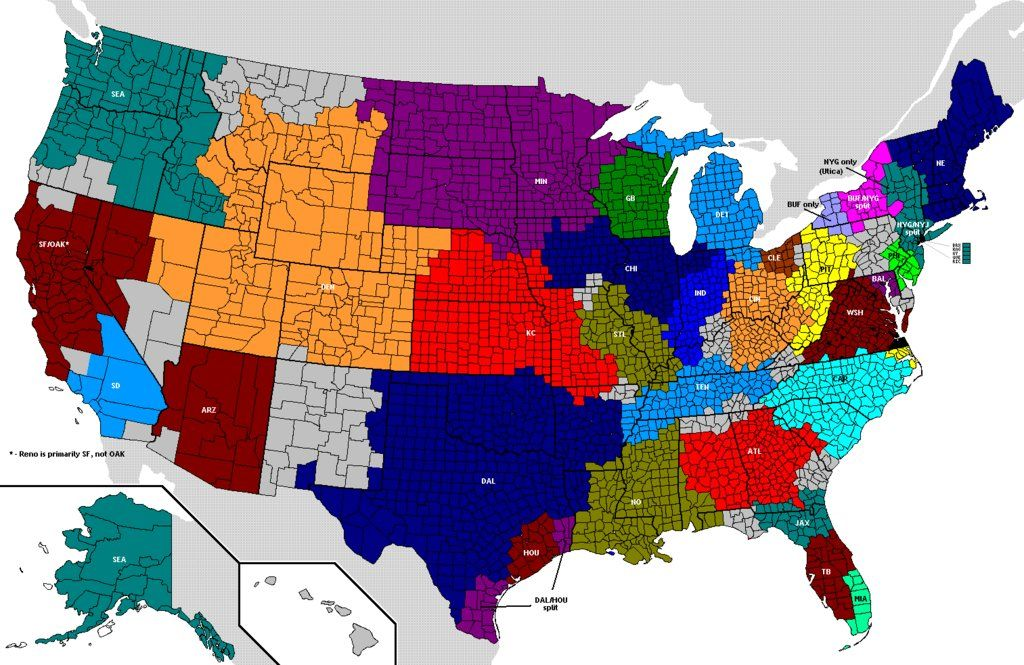 Another US Map Of NFL Fandom Cartography Pinterest Cartography - Map of us baseball teams