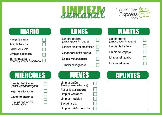 Calendario De Limpieza Del Hogar Y Como Ahorrar Limpiando