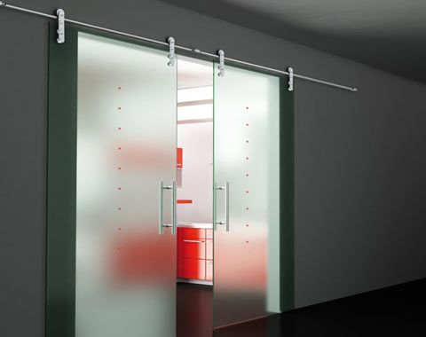 Puerta corredera de cristal puertas pinterest - Puerta vidrio corredera ...
