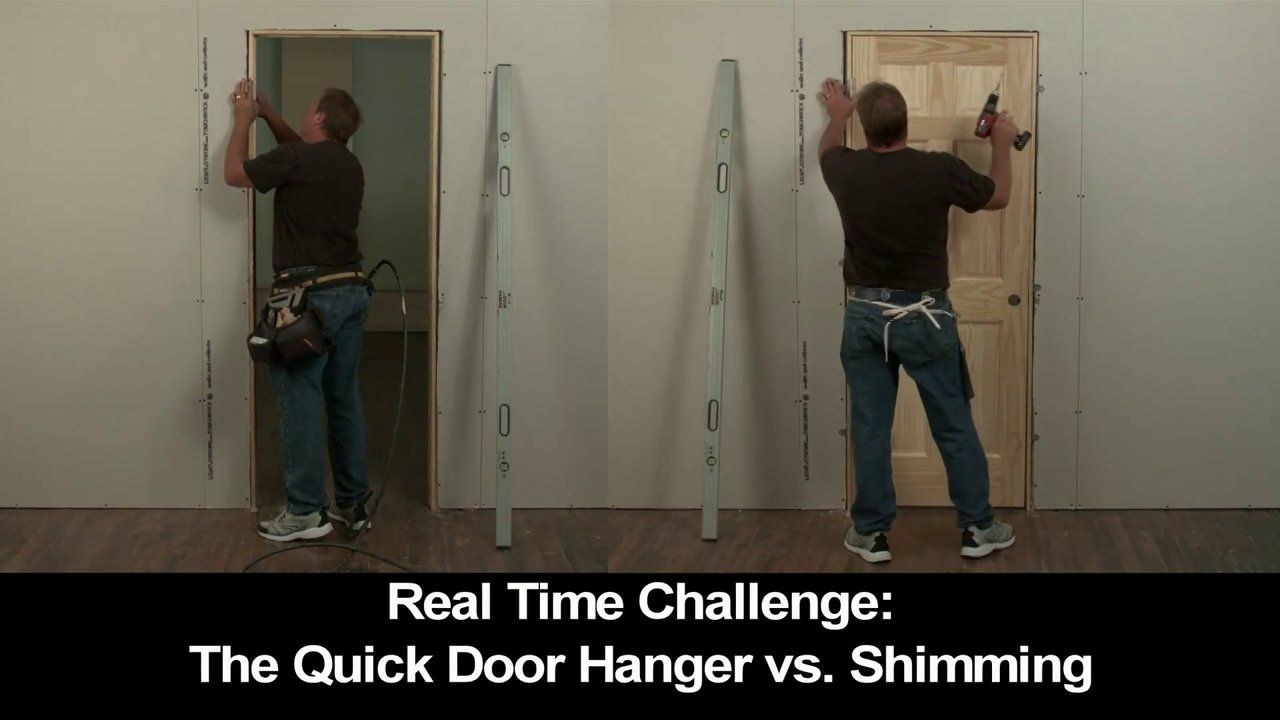 Real Time Installation Brackets Vs Shimming Real Time Video Of A Door Being Installed With The Quick Door Hanger B Quick Door Hanger Installation Real Time